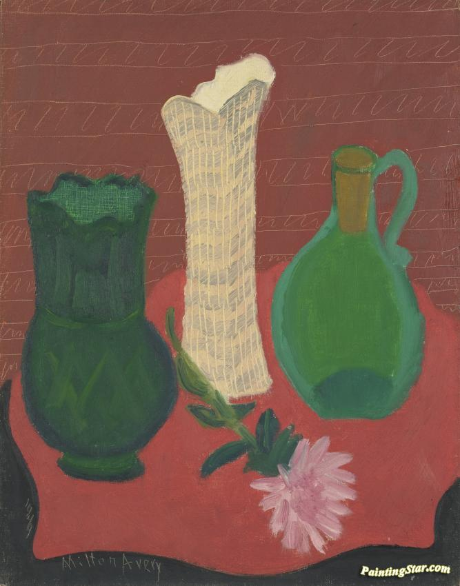 Three Vases Artwork By Milton Avery Oil Painting Art Prints On