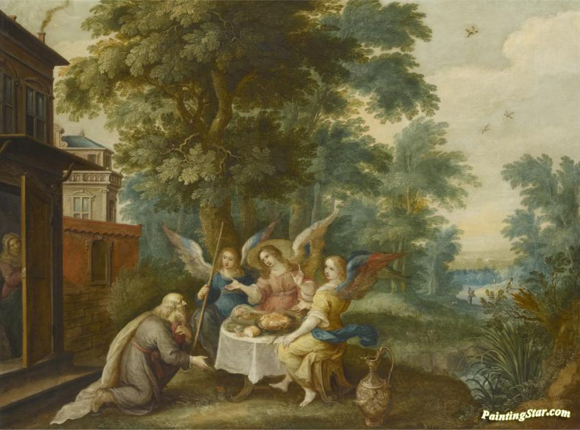 Abraham And The Three Angels Artwork By Frans Francken Ii