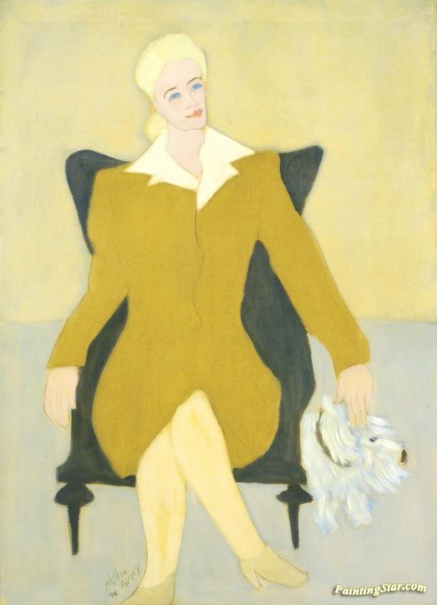 Portrait Of Sophie Sampliner (sophie In Wing Chair With Nicki) Artwork by Milton Avery