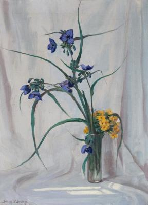Spider Wort & Puccoon, 1927 Artwork by Frank V. Dudley