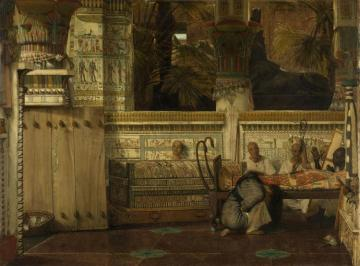 The Egyptian Widow Artwork by Sir Lawrence Alma-Tadema
