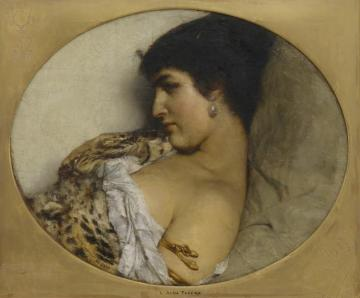 Cleopatra Artwork by Sir Lawrence Alma-Tadema