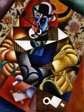 Man With Pipe(le Fumeur) Artwork by Jean Metzinger
