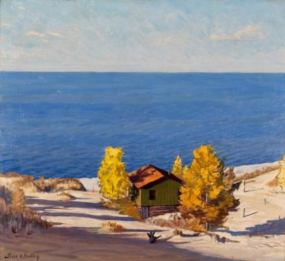 A Sunny Autumn Day, 1947 Artwork by Frank V. Dudley