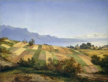 Swiss Landscape,1830 Artwork by Alexandre Calame