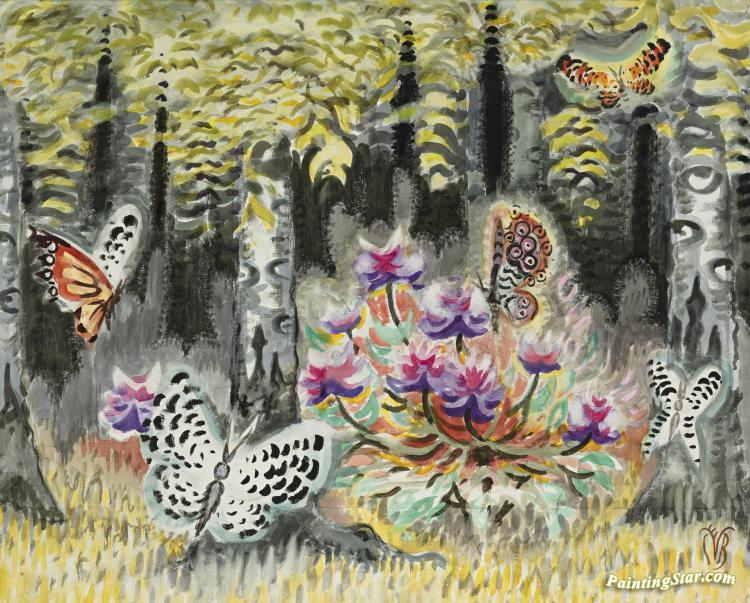 charles burchfield art-Charles Ephraim Burchfield - milk  - ☆ Milk ☆ 平平。淡淡。也是真。