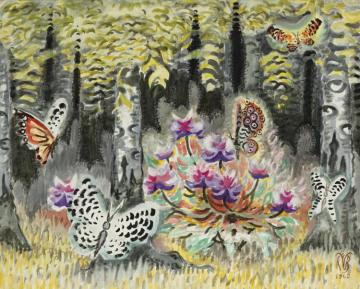 A Dream Of Butterflies Artwork by Charles Burchfield