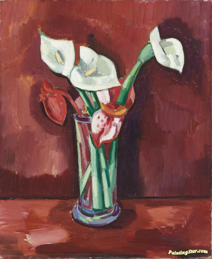 Calla Lilies In A Vase Artwork By Charles Sheeler Oil Painting Art