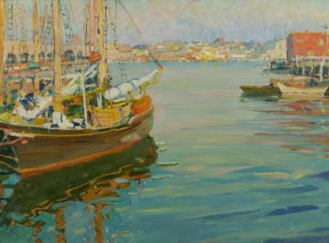 Harbor Scene Artwork by Jane Peterson