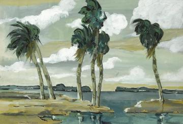 Palms And Trade Winds Artwork by Jane Peterson