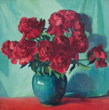 The Red Peonies Artwork by Jane Peterson