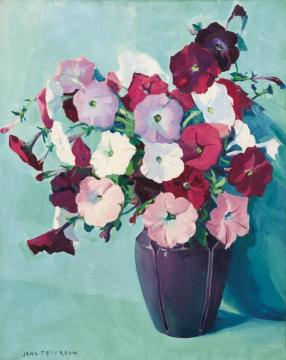 Petunias Artwork by Jane Peterson