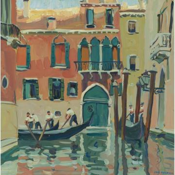Old Red House,venice Artwork by Jane Peterson