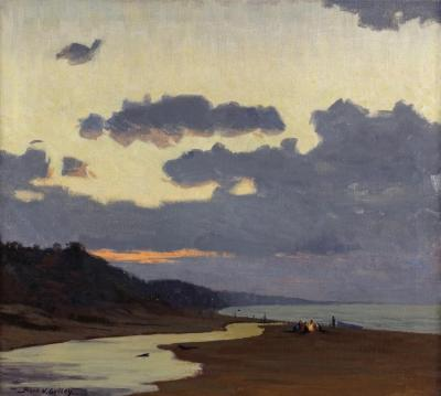 A Stormy Evening, 1945 Artwork by Frank V. Dudley
