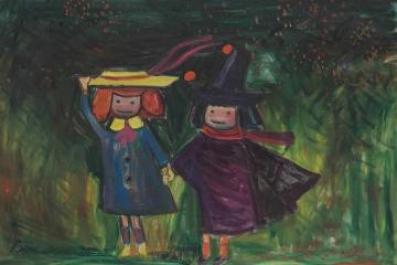 Madeline And Pepito Artwork by Ludwig Bemelmans