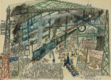 Gare Saint Lazare In Paris Artwork by Ludwig Bemelmans