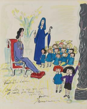 Madeline In London Artwork by Ludwig Bemelmans