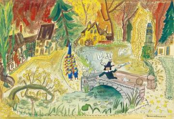 The Hameau Of Marie Antoinette Versailles (he Almost Turned Into A Saint In Fact) Artwork by Ludwig Bemelmans