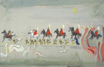 These Birds Have Seen All This Before Artwork by Ludwig Bemelmans