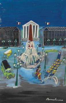 Jacket, Place De La Concorde Artwork by Ludwig Bemelmans