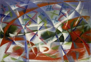 Abstract Speed And Sound,1913-1914 Artwork by Giacomo Balla