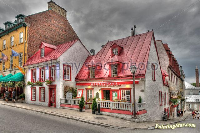 The Restaurant Des Anciennes Canadiens On Rue St Louis In