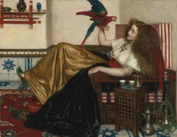 The Lady Of The Tooti-nameh Or The Legend Of The Parrot Artwork by Valentine Cameron Prinsep