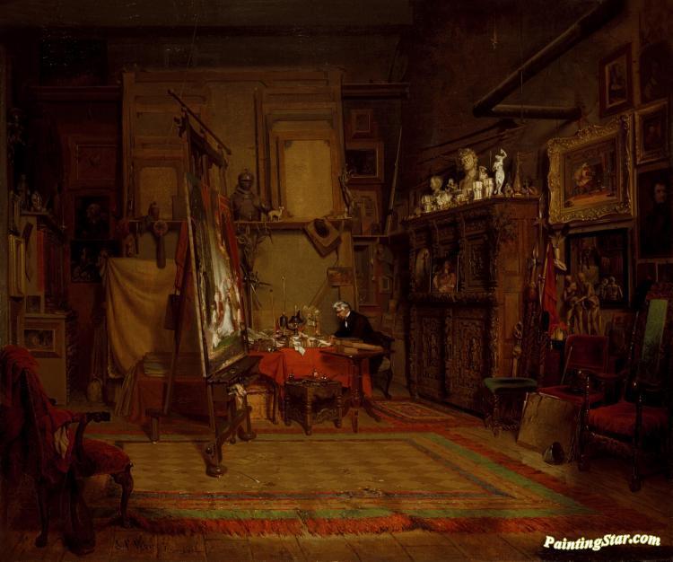 An Artist\'s Studio Artwork By John Ferguson Weir Oil Painting & Art ...