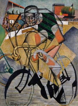 At The Cycle-race Track (au Vélodrome), 1912 Artwork by Jean Metzinger