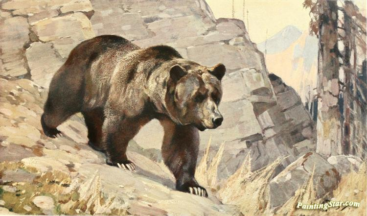 Bear 1911 Artwork By Carl Rungius Oil Painting Amp Art