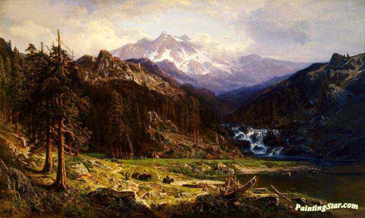 Kings River Canyon 1878 Artwork By William Keith Oil