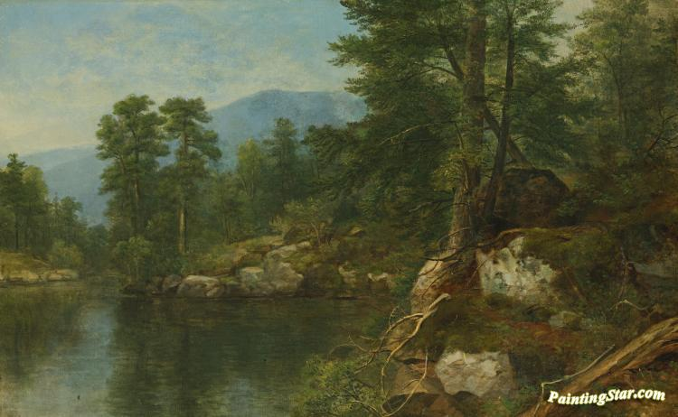 Woods By A River Artwork By Asher B. Durand Oil Painting ...  River