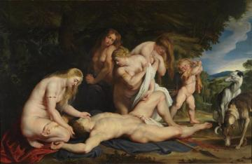 The Death Of Adonis, C.1614 Artwork by Peter Paul Rubens