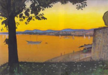 Oslo From Akershus, C. 1900 Artwork by Harald Oskar Sohlberg