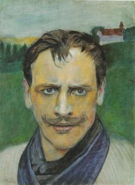 Self Portrait Of Harald Sohlberg Artwork by Harald Oskar Sohlberg