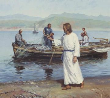 Christ Gathers His Apostles Artwork by Harry Anderson