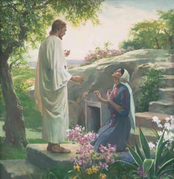 Mary And The Resurrected Lord Artwork by Harry Anderson