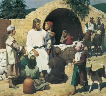 Christ And The Children Artwork by Harry Anderson