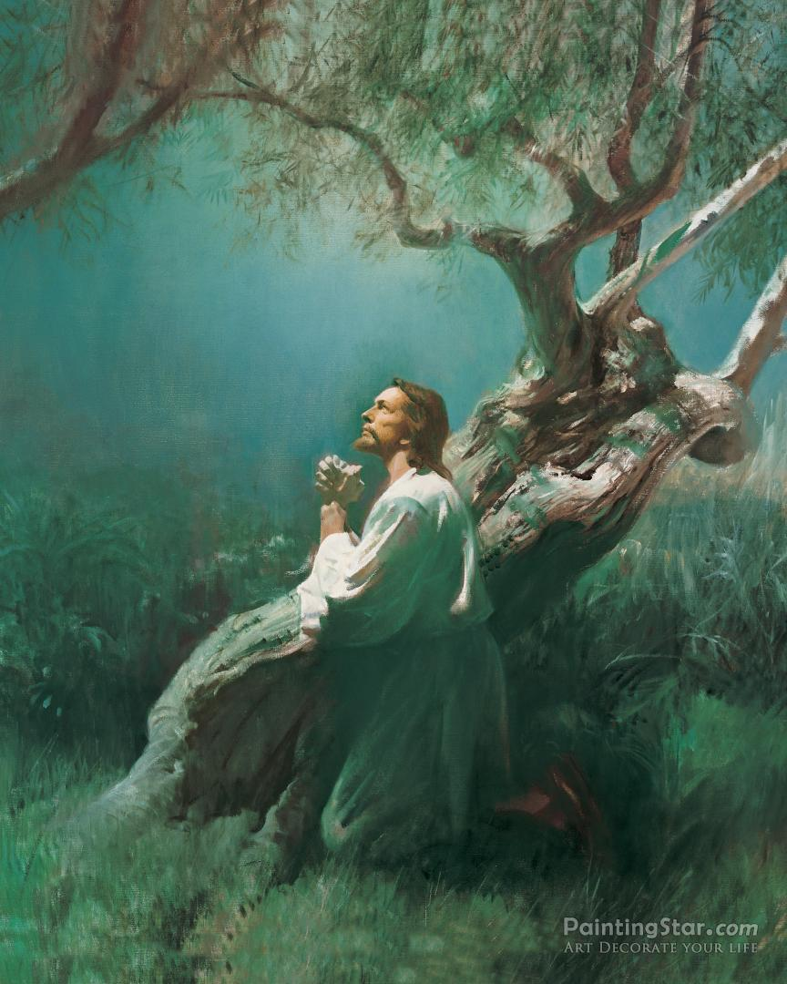 Christ In Gethsemane Artwork by Harry Anderson