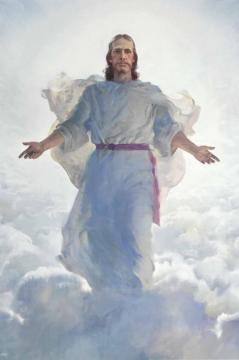 Resurrected Christ (second Coming Detail) Artwork by Harry Anderson