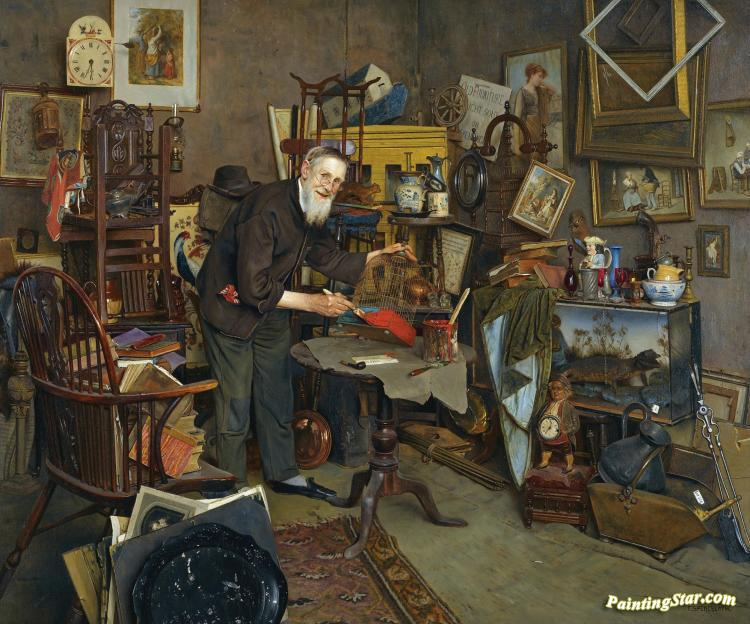 The Old Curiosity Shop, Art Painting by Charles Spencelayh