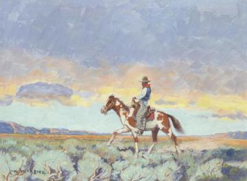 Evening In The Bad Lands, Montana Artwork by Carl Oscar Borg