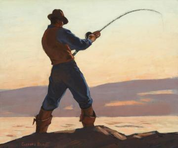 Sea Bass Fisherman, Circa 1928 Artwork by Gifford Beal