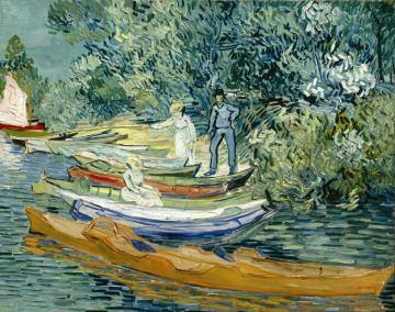 Bank Of The Oise At Auvers,1890 Artwork by Vincent van Gogh