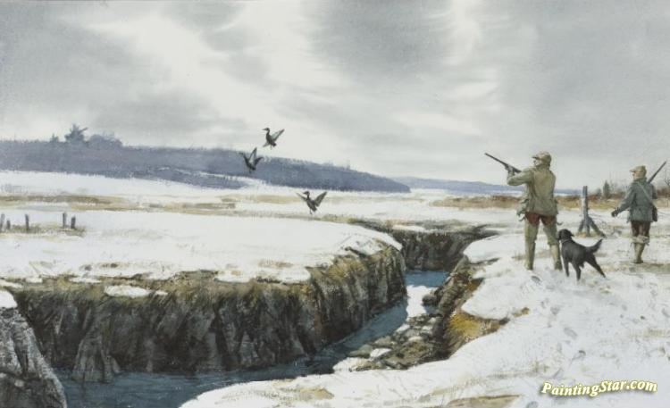 Duck Hunting Artwork By Aiden Lassell Ripley Oil Painting & Art ...