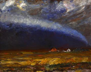 Storm Front Artwork by Harvey T. Dunn