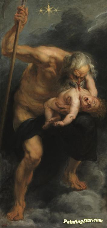 Saturn, Jupiter's Father, Devours One Of His Sons, 1636-1638 Artwork by Peter Paul Rubens