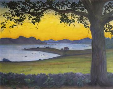 From VÆrvÅgen, The Fisherman's Cottage, 1921 Artwork by Harald Oskar Sohlberg
