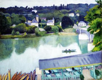 Le Pont De ChenneviÈre Artwork by Albert Marquet