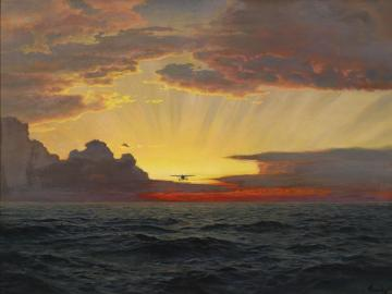 A Dawn Flight Artwork by Frederick Judd Waugh